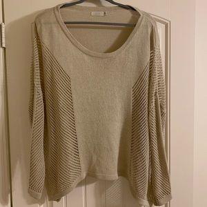 Mesh side sweater